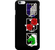 Attack on Titan Emblems iPhone Case/Skin