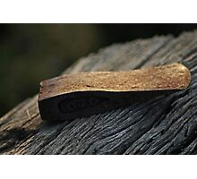 axe head at sunset  Photographic Print