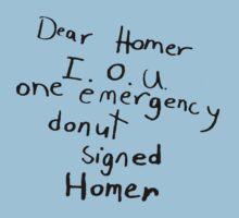 IOU one emergency donut by greatbritton99
