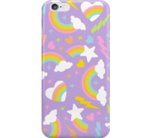 80s Party - Retro Rainbow Pastels iPhone Case/Skin