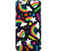 80s Party - Retro Rainbow Brights iPhone Case/Skin