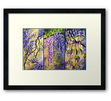 Wisteria Blooming - Triptych Framed Print