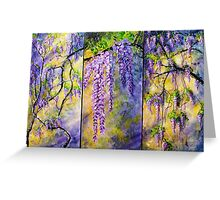 Wisteria Blooming - Triptych Greeting Card