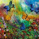 Butterfly - Triptych by Ciska