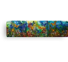 Butterfly - Triptych Canvas Print