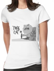 Thug Cat Womens Fitted T-Shirt