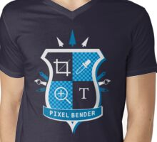 Pixel Bender Mens V-Neck T-Shirt
