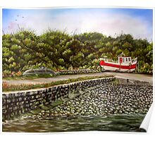 """""""Kilbaha Harbour, county Clare, Ireland"""" - Oil Painting Poster"""