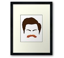 Ron Swanson Bacon Mustache  Framed Print