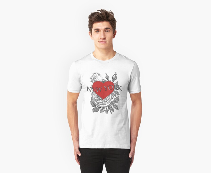 New York Tattoo Style Heart & Rose by Zehda