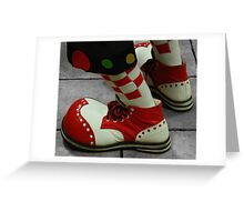 Size 18 shoes Greeting Card