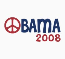 Obama 2008 Peace Sign by ShopBarack