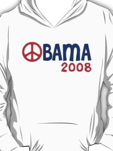 Obama 2008 Peace Sign T-Shirt