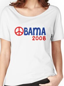 Obama 2008 Peace Sign Women's Relaxed Fit T-Shirt