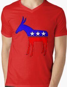 Democratic Donkey Mens V-Neck T-Shirt