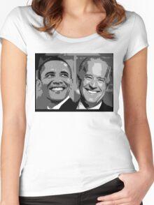 Obama Biden Women's Fitted Scoop T-Shirt