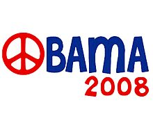 Obama 2008 Peace by ShopBarack