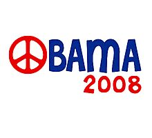 Obama 2008 Peace Photographic Print