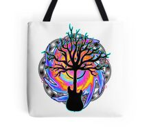 """""""Psychedelic Sonic Cyclone""""   ( surreal guitar tree art) Tote Bag"""