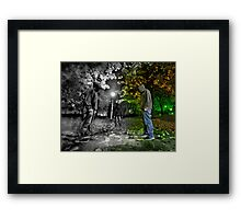 Entering the Dark Side Framed Print