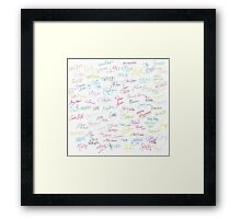 Disney Autographs Framed Print