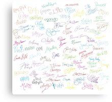 Disney Autographs Metal Print