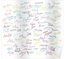 Disney Autographs Poster