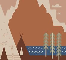 Travel Poster: Montana (Close-up) by Djidiouf