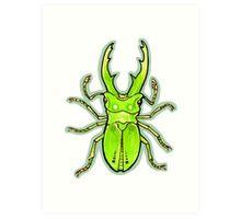 Green Stag Beetle Art Print