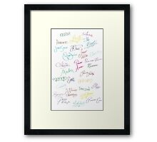 Royal Autographs Framed Print