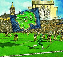 Irish Flag on Saturday by John Farr