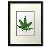 Marijuana Leaf Framed Print
