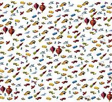 Boys Toys Duvet Cover by Gotcha29
