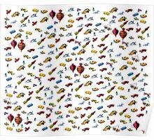 Boys Toys Duvet Cover Poster