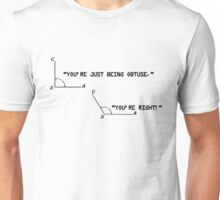 Obtuse and Right Angle Unisex T-Shirt