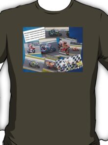 Australian MotoGP 2014 winners collection Rossi Lorenzo Smith Marq Marquez T-Shirt