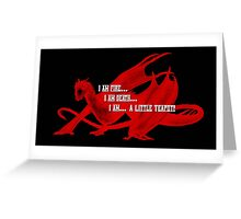 Smaug Fire Death Tea Humor Greeting Card
