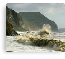 Winter morning on Charmouth Beach  Canvas Print