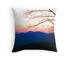SMOKY MOUNTAIN SUNSET Throw Pillow
