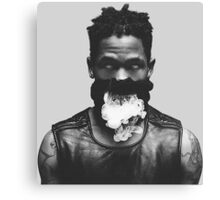 Travi$ Scott Smoke Photo Canvas Print