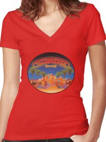 Casablanca Records Women's Fitted V-Neck T-Shirt