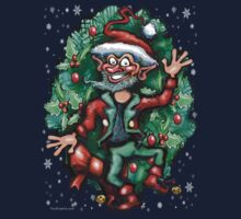 Christmas Elf w Wreath by Kevin Middleton