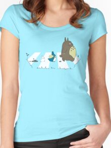 Neighbor's Road Version 2 Women's Fitted Scoop T-Shirt