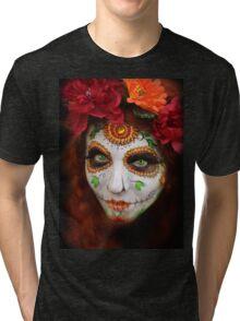 dia des los muertos- sugar skulls 3 Tri-blend T-Shirt