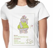 Happy Hip-Poo-Poo Time! Womens Fitted T-Shirt