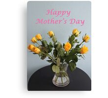 Yellow Roses for Mother's Day Canvas Print