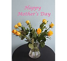 Yellow Roses for Mother's Day Photographic Print