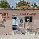 Theb's Phone & Grocery Shops, Rakops, Botswana by Adrian Paul