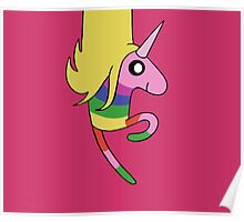Adventure Time - Lady Rainicorn in Raspberry  Poster
