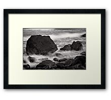 Rinse and Repeat - Cape Egmont - New Zealand Framed Print